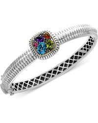 Effy Collection - Multi-gemstone Bangle Bracelet (2 Ct. T.w.) In Sterling Silver & 18k Gold - Lyst