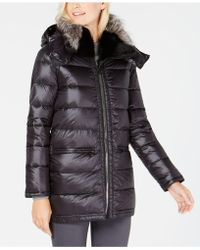 Trina Turk - Fox-fur-trim Coat - Lyst