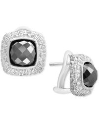 Effy Collection - Hematite (8mm) Stud Earrings In Sterling Silver - Lyst
