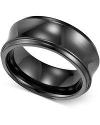 Triton - Black Titanium Ring, Concave Wedding Band (8mm) - Lyst