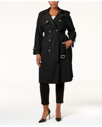 London Fog - Plus Size Long Trench Coat - Lyst