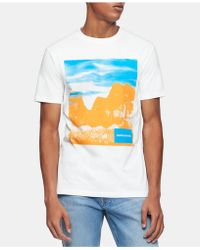 5c490c9fa925 Calvin Klein Liquid Cotton Core T-shirt in White for Men - Lyst