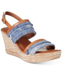 Easy Street - Tuscany By Zaira Wedge Sandals - Lyst