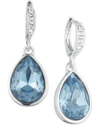 Givenchy - Silver-tone Crystal & Stone Drop Earrings - Lyst