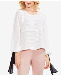 Vince Camuto - Tie-sleeve Blouse - Lyst
