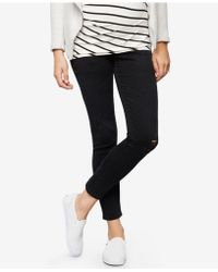 AG Jeans | Maternity Black-wash Skinny Jeans | Lyst