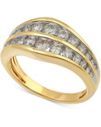 Macy's - Diamond Channel Set Anniversary Band (1 Ct. T.w.) In 14k Gold - Lyst