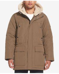 Sean John - Long Hooded Bomber Jacket - Lyst
