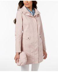 Cole Haan - Signature Petite Packable Raincoat - Lyst