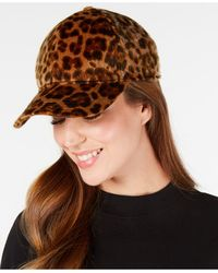 Nine West Faux-haircalf Baseball Cap - Brown