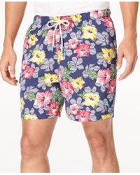 Tommy Bahama - Naples Hibiscus High Line Floral-print Swim Trunks - Lyst