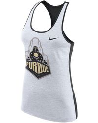 Nike - Purdue Boilermakers Dri-fit Touch Tank - Lyst