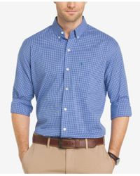 Izod - Advantage Sport Flex Non-iron Check Shirt - Lyst