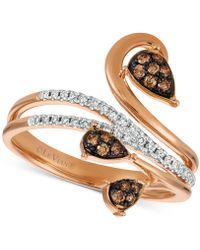 Le Vian - Diamond Vine Ring (1/4 Ct. T.w.) In 14k Rose Gold - Lyst