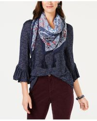 Style & Co. - Bell-sleeve Scarf Top, Created For Macy's - Lyst