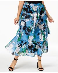 INC International Concepts - I.n.c. Plus Size Printed Tiered Skirt, Created For Macy's - Lyst