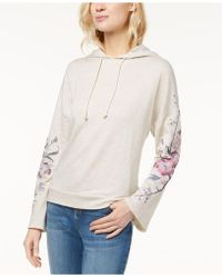 INC International Concepts - Embroidered-sleeve Hoodie, Created For Macy's - Lyst