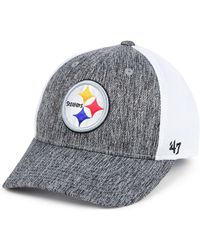 f101af524a0 47 Brand - Pittsburgh Steelers Hazy Flex Contender Stretch Fitted Cap - Lyst