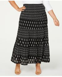 Style & Co. - Plus Size Printed Tiered Mesh Maxi Skirt, Created For Macy's - Lyst