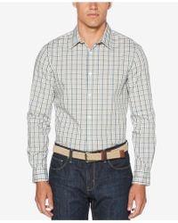 Perry Ellis - Men's Non-iron Multi-color Mini Plaid Shirt - Lyst
