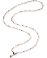 Carolee - Gold-tone Pavé Ring & Pink Imitation Pearl Convertible Strand Necklace - Lyst