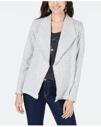 60e0e957a9bc9 Style   Co. - Cotton Wide-lapel Open-front Blazer