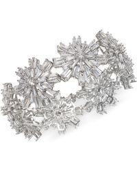 Badgley Mischka - Silver-tone Crystal Starburst Stretch Bracelet - Lyst