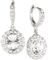 Givenchy - Rhodium-plated Crystal Round Drop Earrings - Lyst