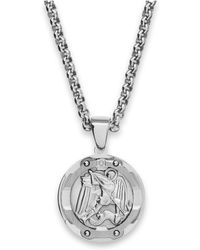 Michael kors michael kors rose goldclear in pink lyst macys mens st michael diamond pendant necklace in stainless steel lyst aloadofball Choice Image