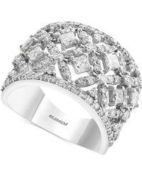 Effy Collection - Diamond Openwork Statement Ring (2 Ct. T.w.) In 14k White Gold - Lyst