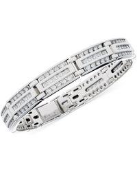 Macy's - Diamond Linear Cluster Link Bracelet (4 Ct. T.w.) In 10k White Gold - Lyst