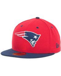 b0d9abf3eb6 Lyst - KTZ New England Patriots Retro Striped 9fifty Snapback Cap in ...