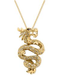 Effy Collection - Diamond Dragon Pendant Necklace (5/8 Ct. T.w.) In 14k Gold - Lyst