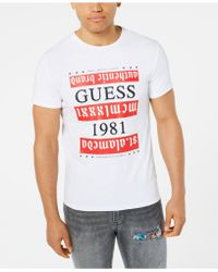 4b03c308a1c0 Guess Men's La Reflective Graphic-print T-shirt in White for Men - Lyst