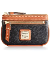 Dooney & Bourke - Pebble Leather Coin Case - Lyst
