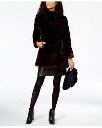 Jones New York - Stand-collar Faux-fur Coat - Lyst