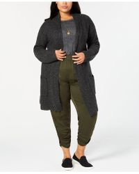 Style & Co. - Plus Size Tweed Sweater Coat, Created For Macy's - Lyst