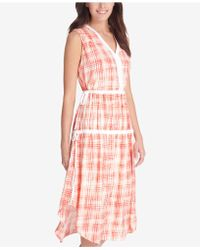 DKNY - Printed Ruched Dress, Created For Macy's - Lyst