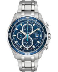 Citizen - Men's Chronograph Eco-drive Titanium Bracelet Watch 43mm Ca0349-51l - Lyst