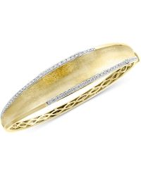 Effy Collection - Effy® Diamond Textured Bangle Bracelet (3/4 Ct. T.w.) In 14k Gold - Lyst