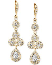 Givenchy - 10k Gold-plated Crystal Linear Drop Earrings - Lyst