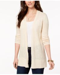 Style & Co. - Petite Cotton Pointelle-knit Cardigan, Created For Macy's - Lyst