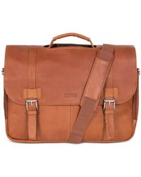 Kenneth Cole Reaction - Messenger Bag, Columbia Leather Flapover Portfolio - Lyst
