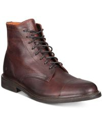Frye - Men's Seth Cap-toe Lace-up Boots - Lyst