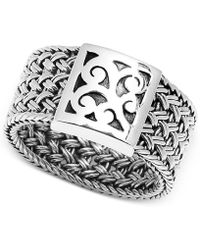 Lois Hill - Weave-style Statement Ring In Sterling Silver - Lyst