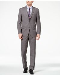 Marc New York - Classic-fit Stretch Medium Gray Windowpane Suit - Lyst