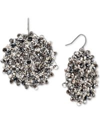 Kenneth Cole - Black Diamond-crystal Woven Drop Earrings - Lyst