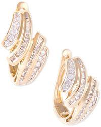 Wrapped in Love - Diamond Wave Hoop Earrings (1/2 Ct. T.w.) In 10k Gold - Lyst