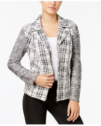 Style & Co. - Plus Size Jacquard Plaid Jacket - Lyst