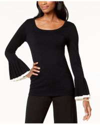 Charter Club - Pleated Bell-sleeve Sweater, Created For Macy's - Lyst
